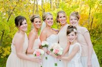 Bridesmaids with bride