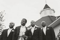 Groomsmen in Black and White
