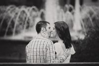 Kissing by the fountain
