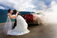 Wedding with Mustang